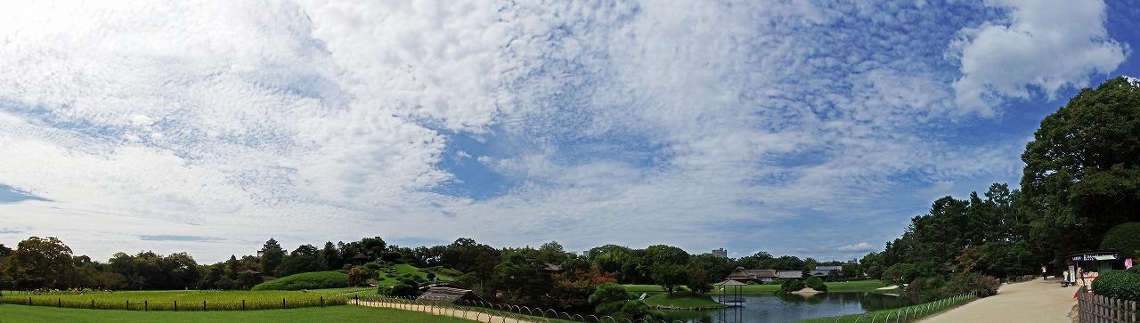 s-20140918 後楽園今日の空模様ワイド風景 (1)