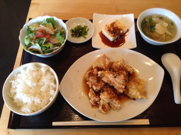 鶏肉の甘酢ソース定食4