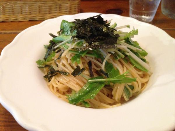 しらすと青菜の冷製わさびじょうゆスパゲティ8