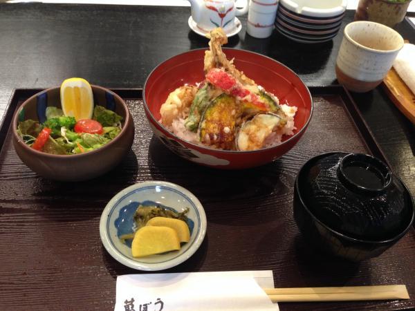 穴子天丼セット4