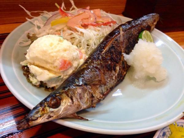 秋刀魚塩焼き5