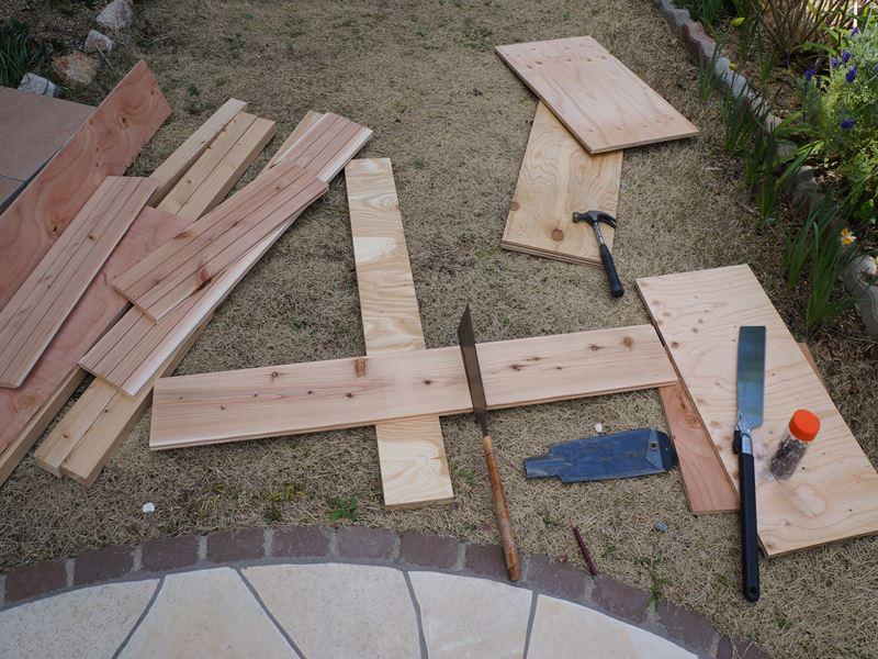 手作りプランターの板