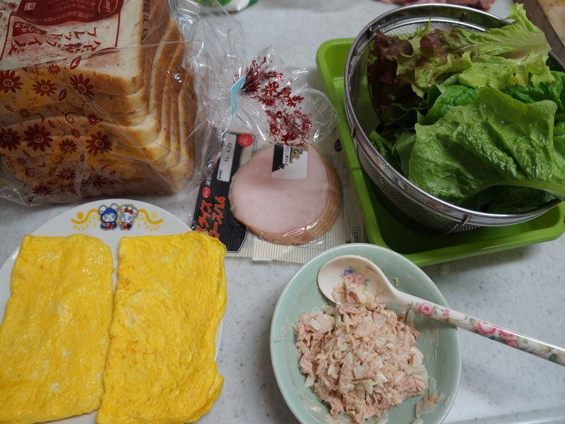 サンドイッチの材料