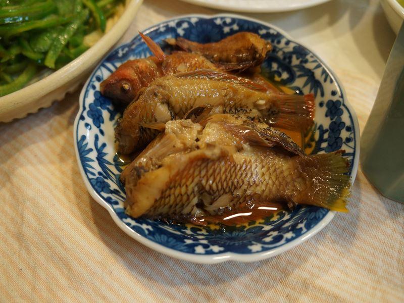 釣った煮魚