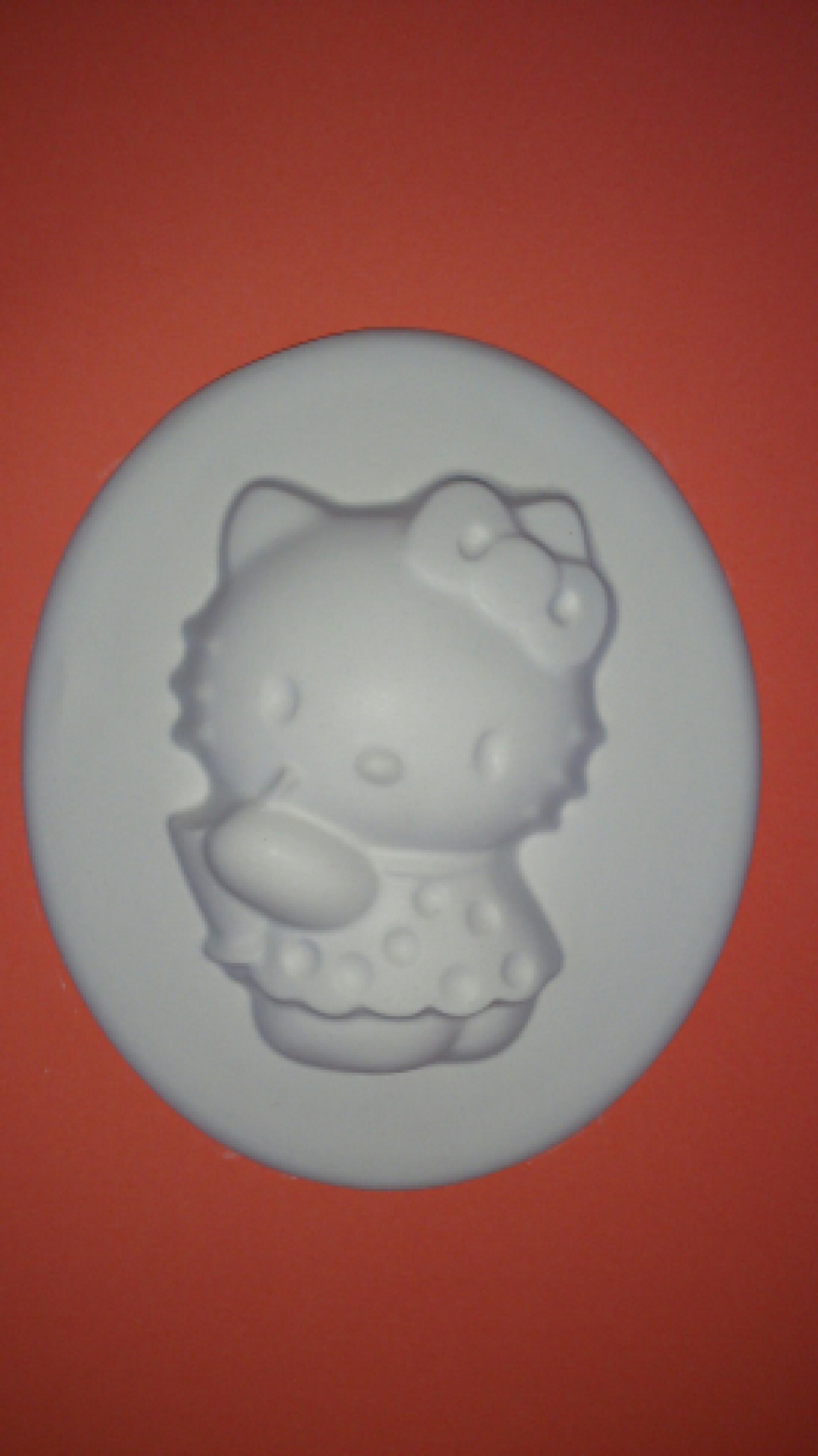 キティちゃん塗りプラ 石膏
