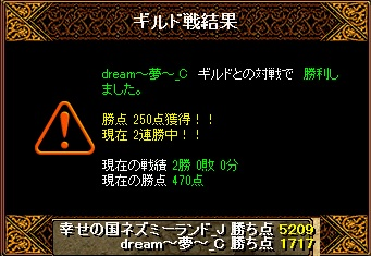 14.8.6dream~夢~様 結果