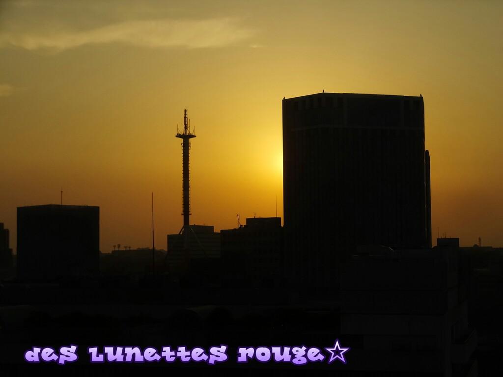 夕焼け:横浜そごう屋上