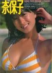 河合奈保子 セクシー ビキニ水着 巨乳おっぱいの谷間 脇 ムチムチ 健康的 濡れている 1980年代アイドル 顔アップ 高画質エロかわいい画像7