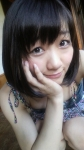 SKE48 須田亜香里 セクシー 顔アップ カメラ目線 頬杖 ワンピース しゃがみ チラリズム 誘惑 高画質エロかわいい画像33