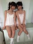 AKB48 大島涼花 向井地美音 セクシー ランジェリー 下着姿 太もも ポニーテール FLASH2014 オフショット 高画質エロかわいい画像3
