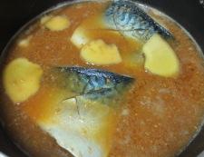 サバ味噌 調理①