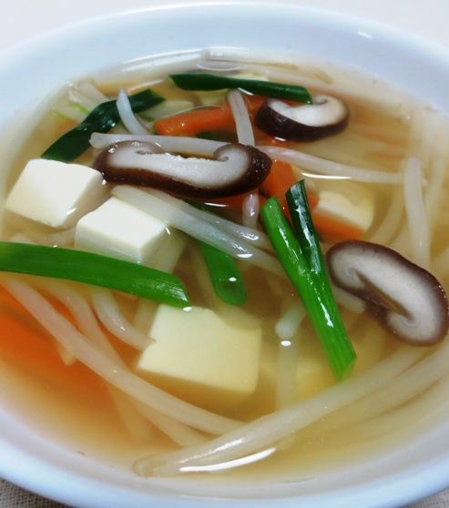 豆腐ともやしのスープ B