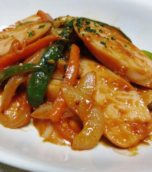 魚肉ソーセージナポリタン風 B