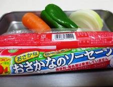 魚肉ソーセージナポリタン風 材料