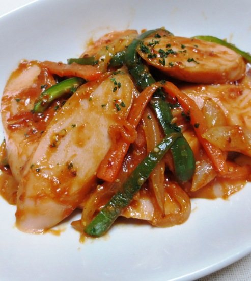 魚肉ソーセージナポリタン風 大