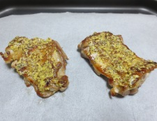 チキンのマスタードチーズパン粉焼き 調理②