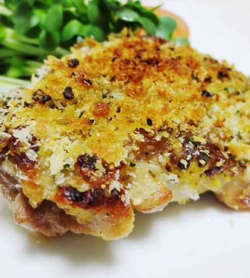 チキンのマスタードチーズパン粉焼き B