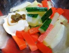 たくあんの柚子胡椒マヨ 調理