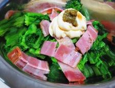 菜の花 柚子胡椒マヨ 調理