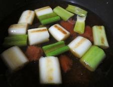 長ねぎとわかめの梅煮 調理②