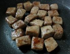 サイコロステーキと彩り野菜 調理③