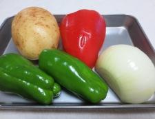 サイコロステーキと彩り野菜 材料②