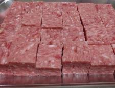 サイコロステーキと彩り野菜 材料①