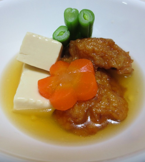 豆腐と練り物の炊いたん 大