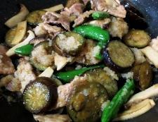 なすのおろし麺つゆ炒め 調理⑥