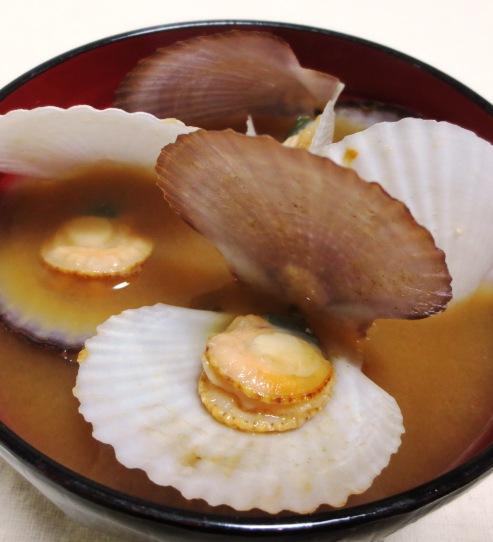 ほたての稚貝の味噌汁 大