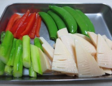 牛肉と春野菜のオイスターソース炒め 【下準備】④