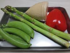 牛肉と春野菜のオイスターソース炒め 材料②