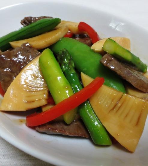牛肉と春野菜のオイスターソース炒め 大