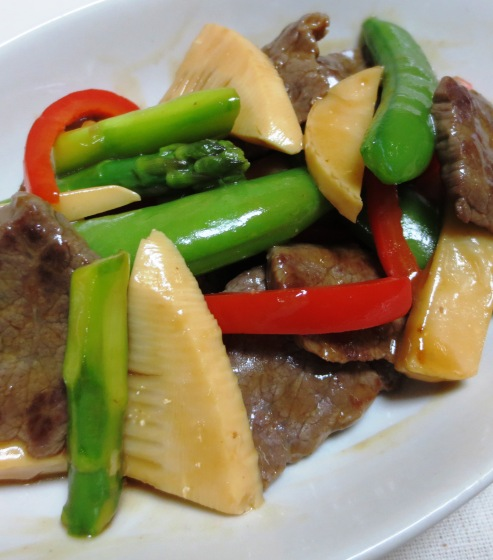 牛肉と春野菜のオイスターソース炒め 拡大