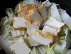 白菜と厚揚げの炊いたん 調理