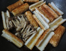 ちくわの照り焼き丼 調理②