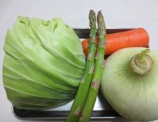 春野菜とソーセージのスープ煮 材料①