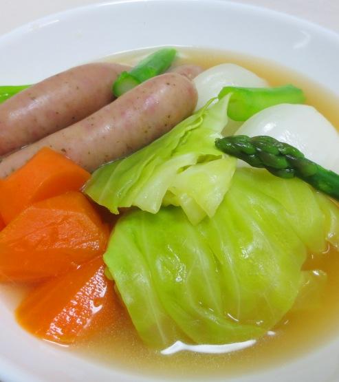 春野菜とソーセージのスープ煮 B