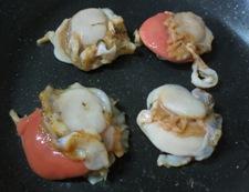 ホタテと焼き豆腐の炊いたん 調理①