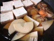 ホタテと焼き豆腐の炊いたん 調理④