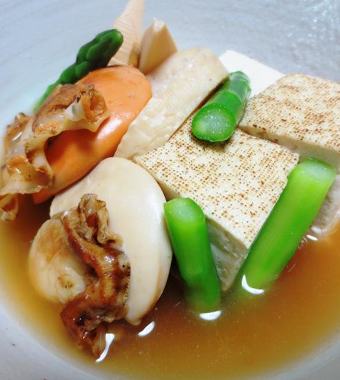 ホタテと焼き豆腐の炊いたん 拡大