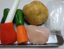 新じゃがの柚子こしょう炒め 材料