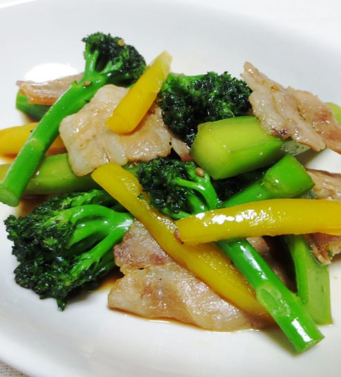 豚パラとブロッコリーの炒め B