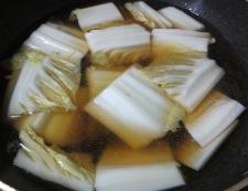 肉団子と白菜の中華風煮込み 調理①