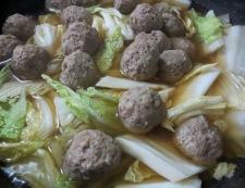 肉団子と白菜の中華風煮込み 調理②
