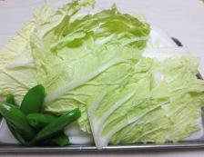 肉団子と白菜の中華風煮込み 【下準備】④