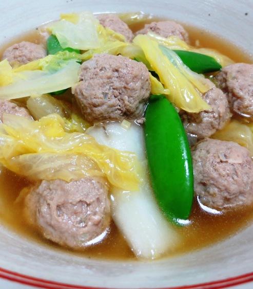 肉団子と白菜の中華風煮込み 拡大