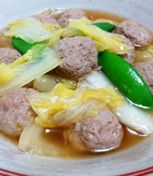 肉団子と白菜の中華風煮込み 大