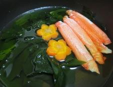 里芋とわかめの炊き合わせ 調理③