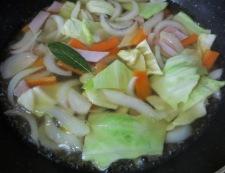 春野菜のスープパスタ 調理③